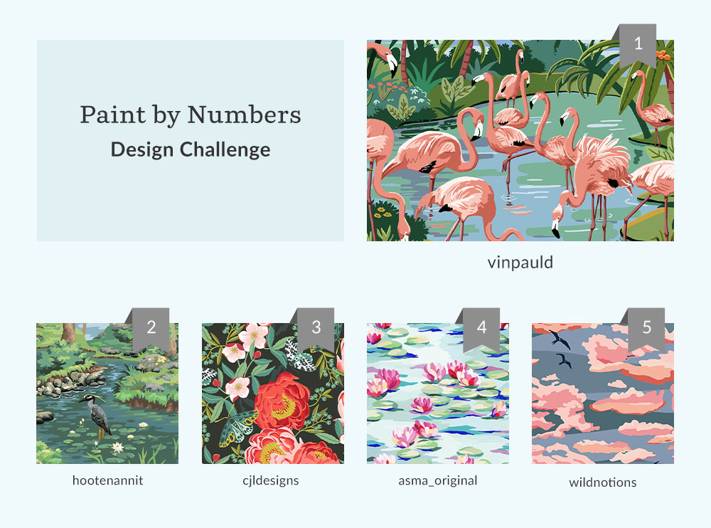 See Where You Ranked in the Paint by Numbers Design Challenge | Spoonflower Blog