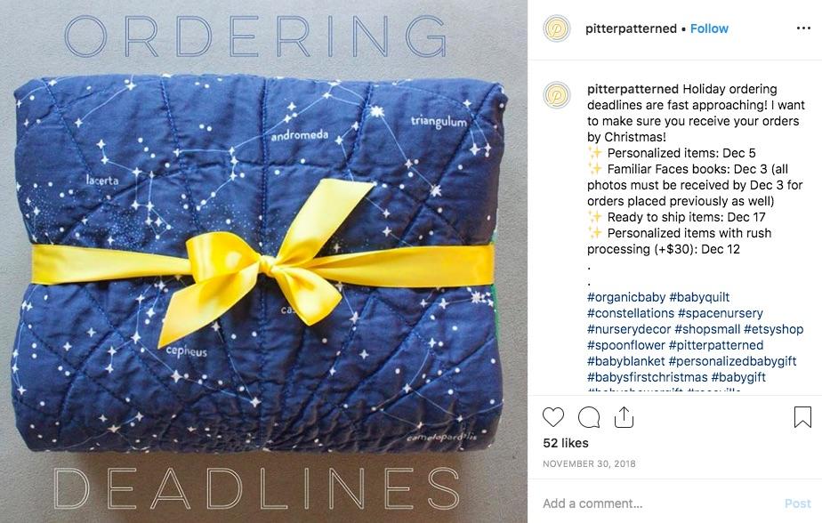 Deadlines verkünden über Instagram Posts
