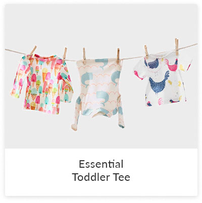 DIY Projects To Make for Your Little Ones - essential toddler tee | Spoonflower Blog