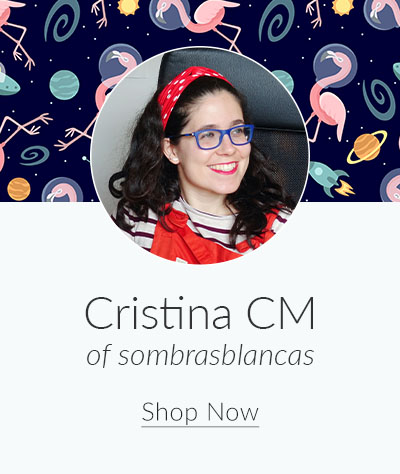 July Designer Spotlight: Meet Cristina CM of sombrasblancas | Spoonflower Blog