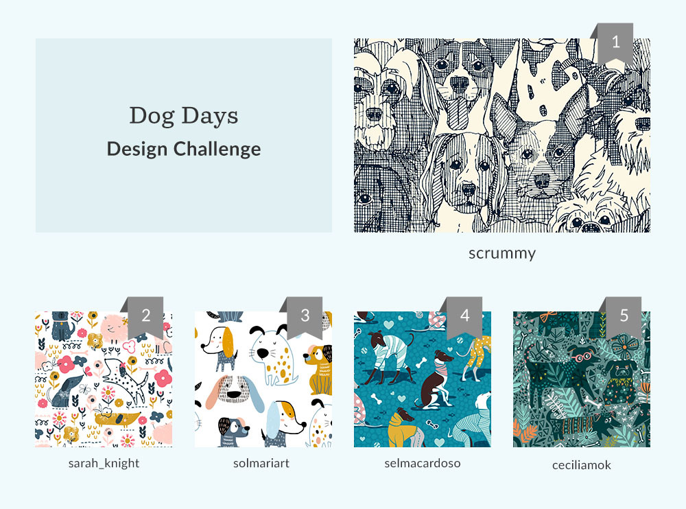 See Where You Ranked in the Dog Days Design Challenge | Spoonflower Blog