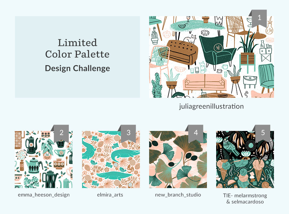 See Where You Ranked in the Limited Color Palette Design Challenge | Spoonflower Blog