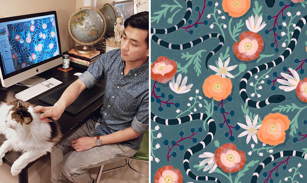 July Designer Spotlight: Meet Caleb Luke Lin of caleb_luke_lin | Spoonflower Blog