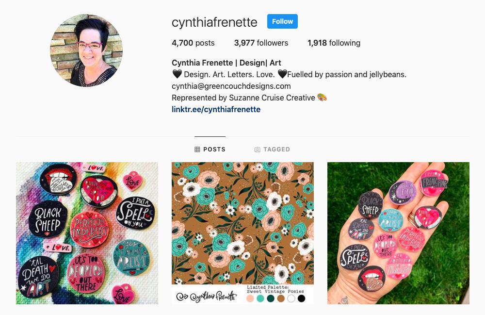 July Designer Spotlight: Meet Cynthia Frenette of cynthiafrenette | Spoonflower Blog