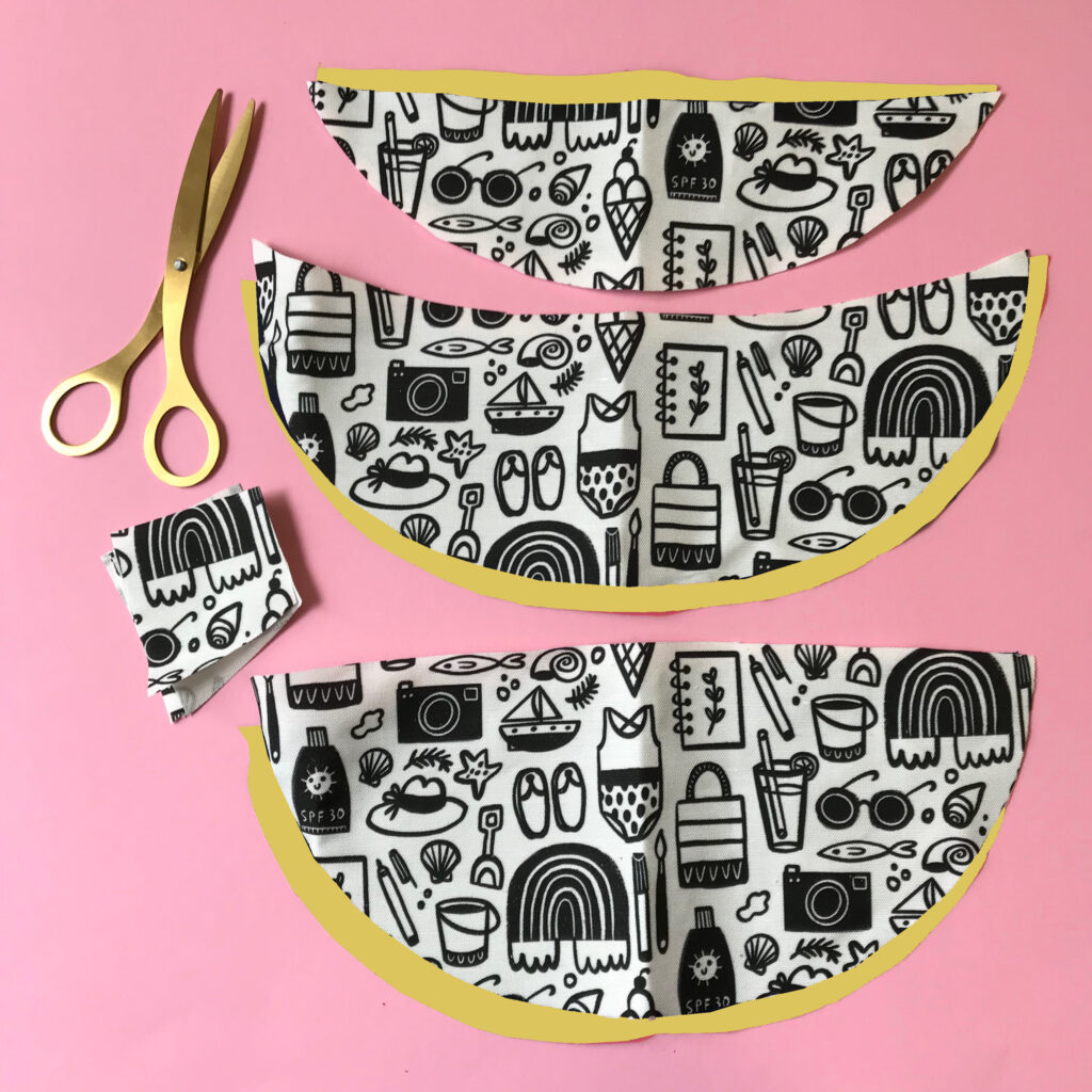 Step 1. Cut out your pattern pieces. | Spoonflower Blog