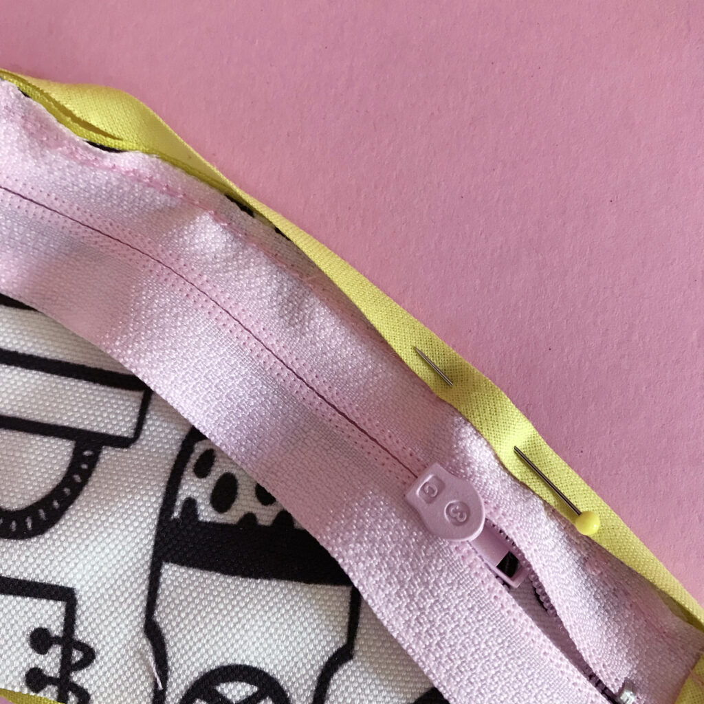 Attach the bias tape | Spoonflower Blog