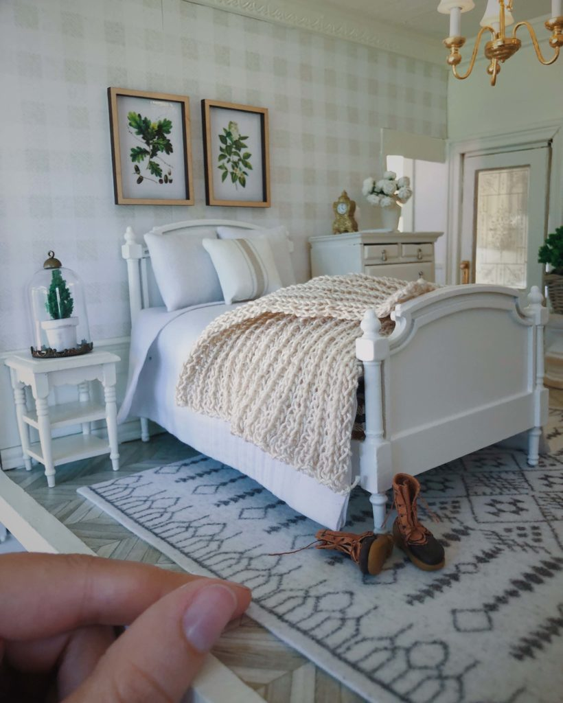 Bedroom in a doll house   Spoonflower Blog