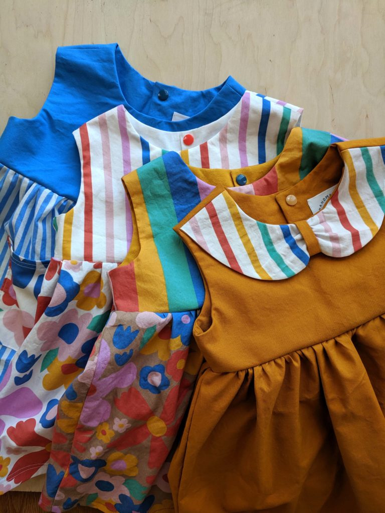 Three rainbow dresses | Spoonflower Blog