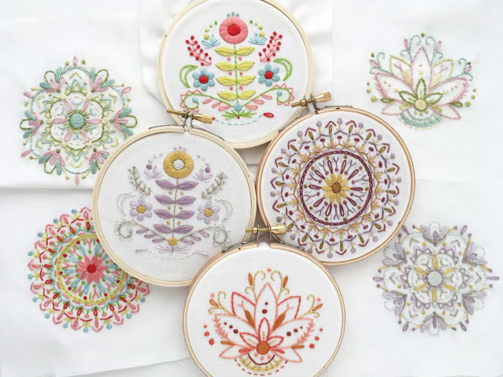 A collection of embroidery samples | Spoonflower Blog