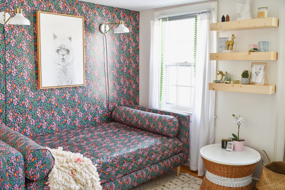Floral daybed and wallpaper | Spoonflower Blog