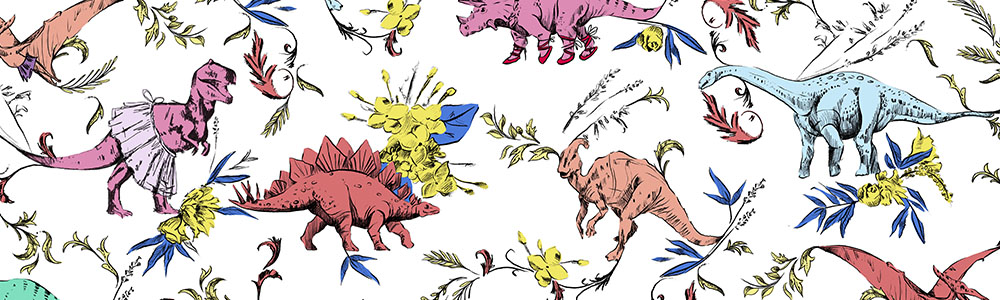Dino Dancer by Pattern_State | Spoonflower Blog