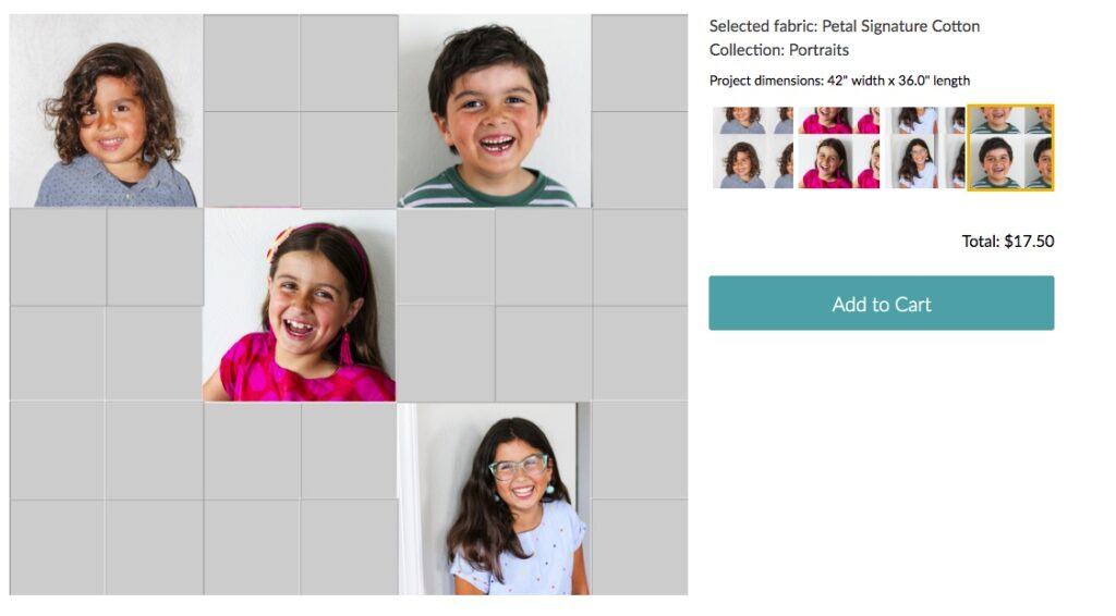 First day of school pictures printed on Fill-A-Yard® | Spoonflower Blog