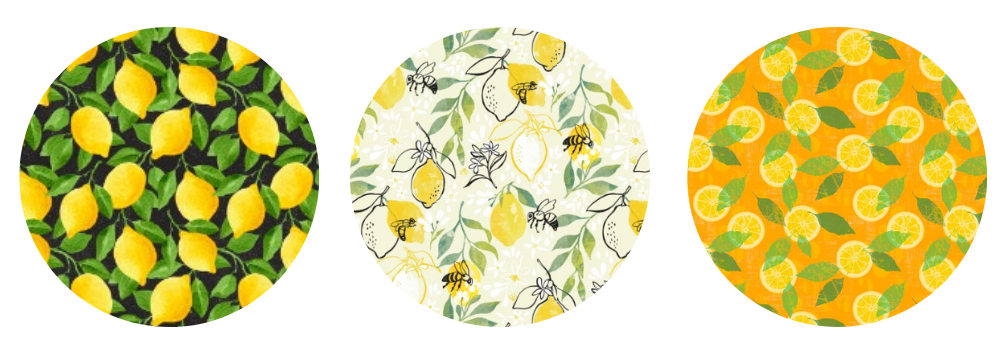Lemon wallpaper designs for your pantry | Spoonflower Blog