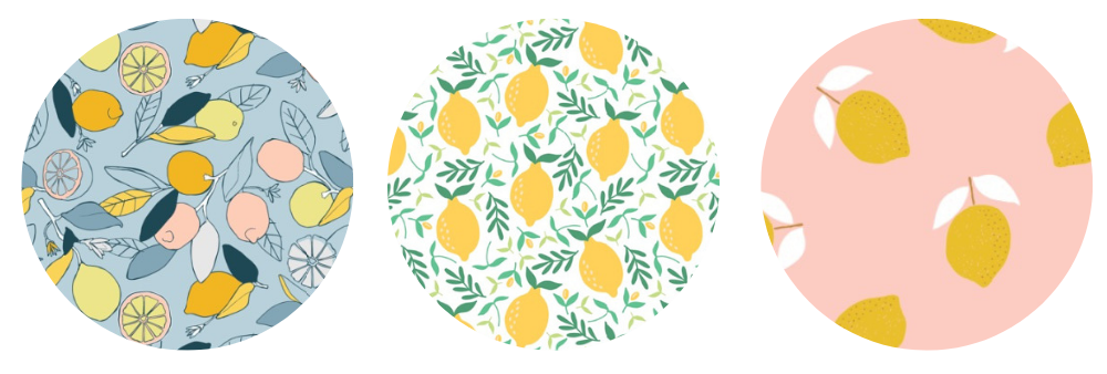 Lemon wallpaper designs for your nursery | Spoonflower Blog