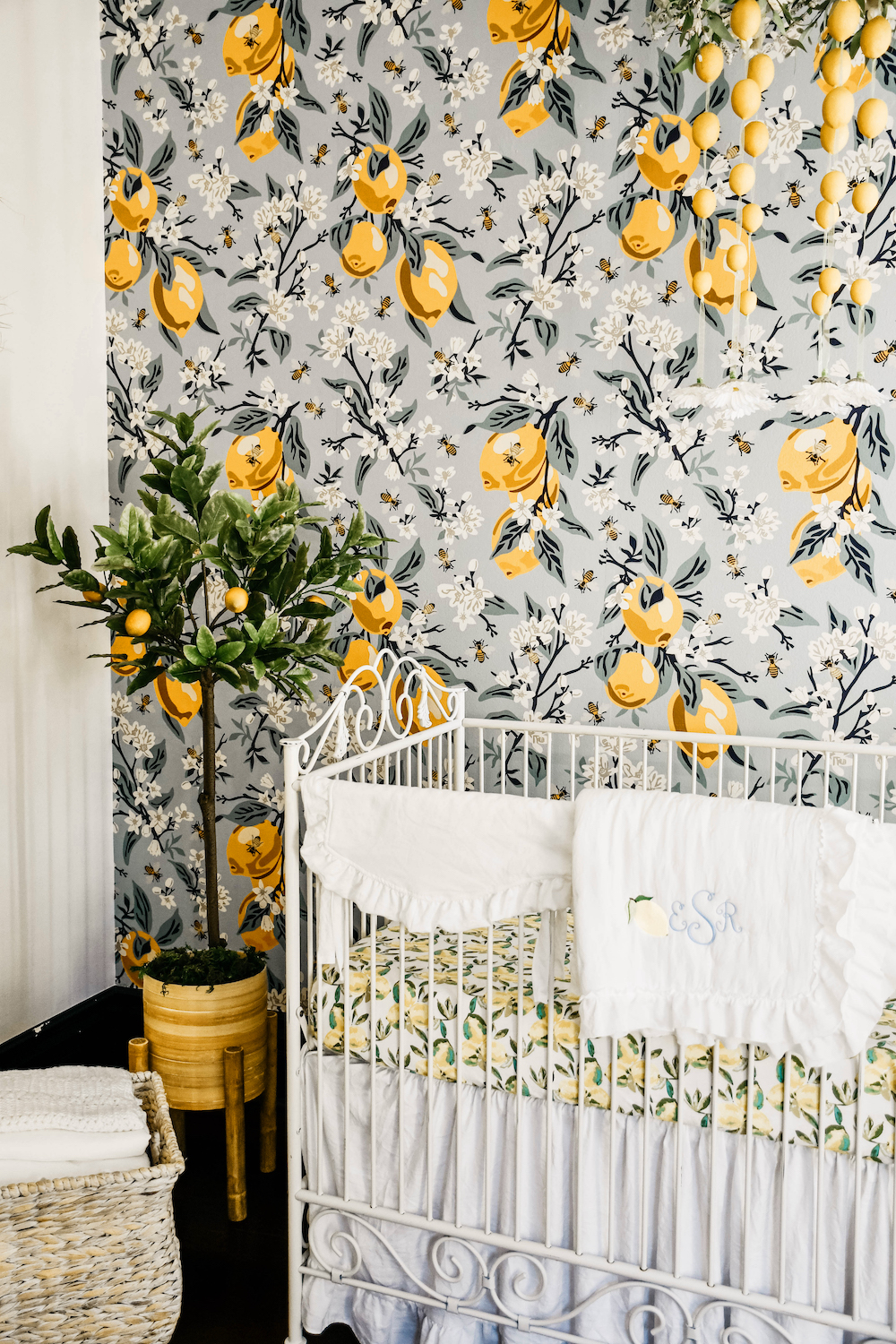 Lemon wallpaper in the nursery | Spoonflower Blog