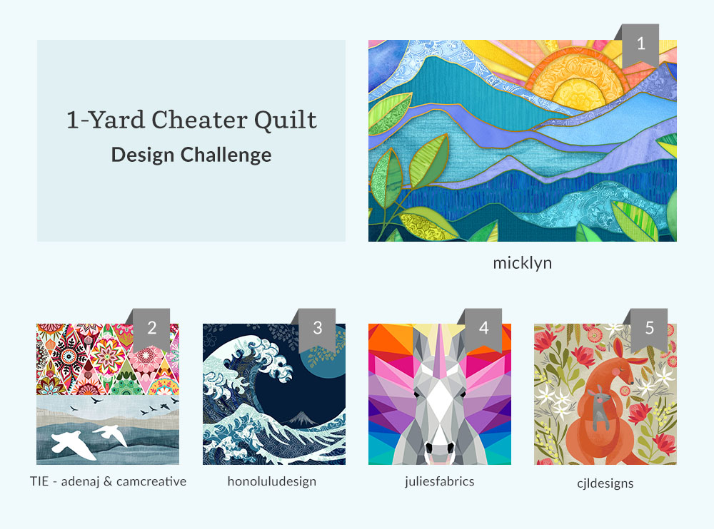 Top 5 cheater quilt design challenge winners | Spoonflower Blog