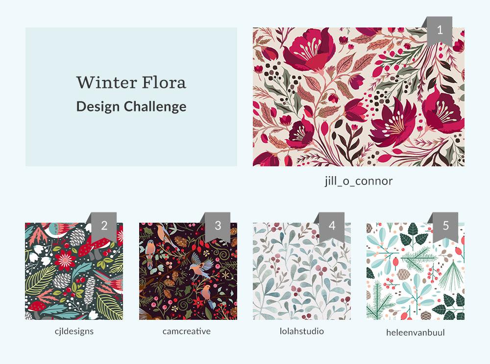 Winter Flora Design Challenge Winners | Spoonflower Blog