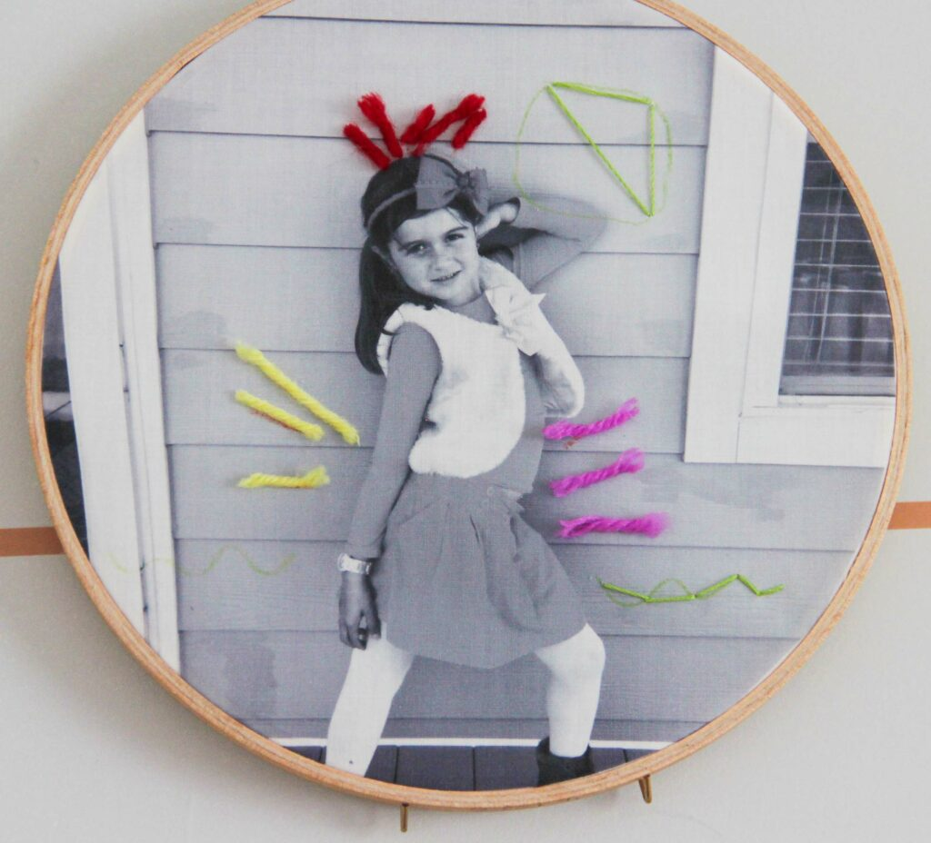 Embroidered first day of school picture | Spoonflower Blog