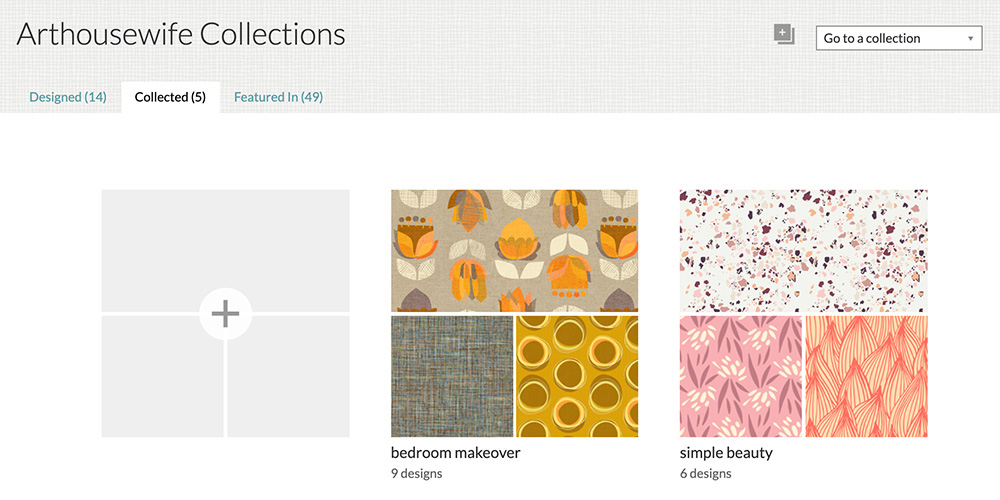 A glimpse at some of the collections I've sorted that feature both mine and other artist's work | Spoonflower Blog