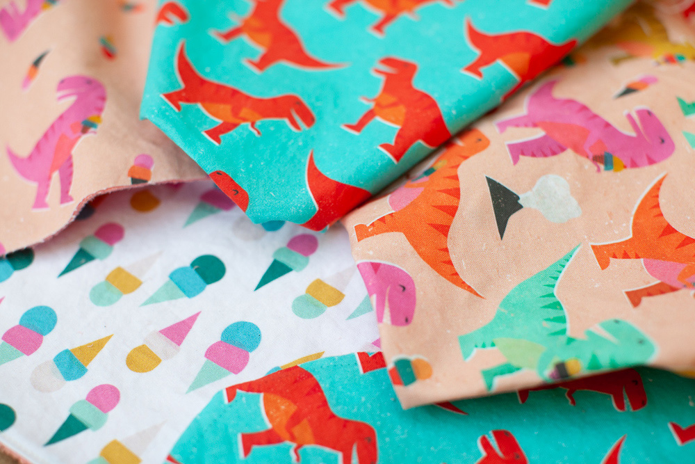 Kristina's entry in the Boy Wonder Design Challenge, Dino I Scream Party, inspired an entire collection | Spoonflower Blog