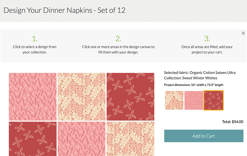 Creating dinner napkins with Spoonflower's Fill-A-Yard feature | Spoonflower Blog