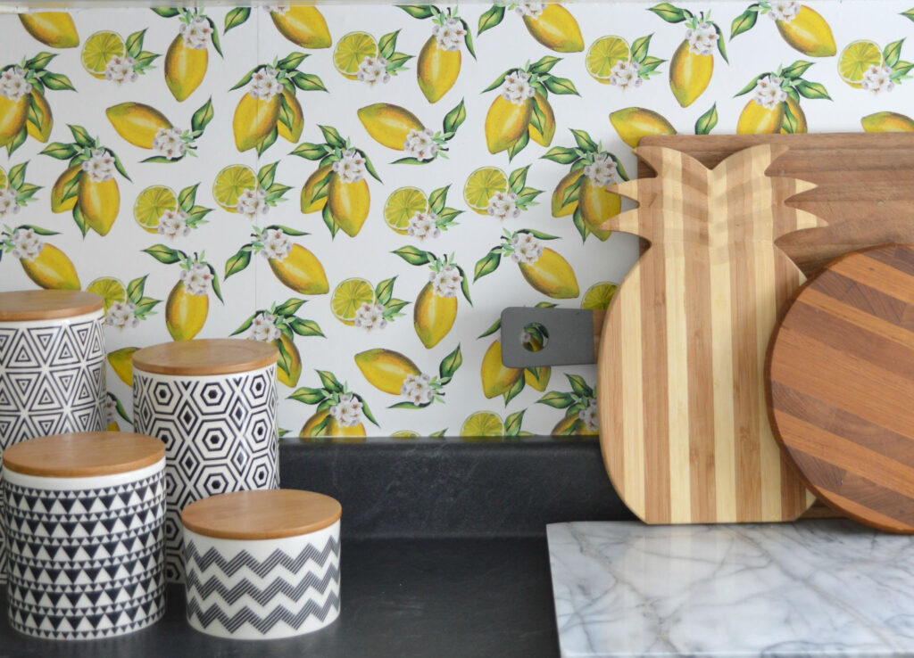 Lemon Wallpaper Backsplash