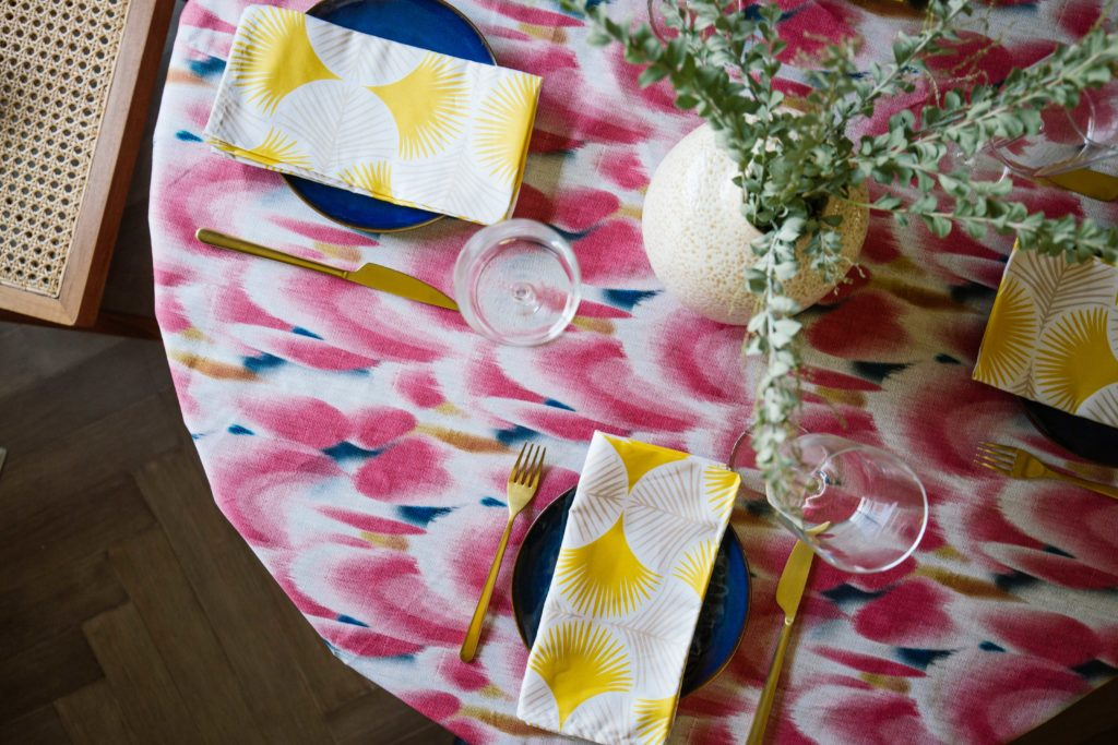 6 Ways to Style Your Table this Season - Old Brand New Tablescape | Spoonflower Blog