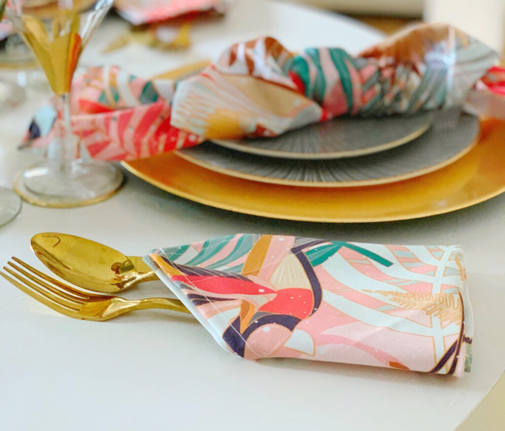 6 Ways to Style Your Table this Season - My Eclectic Nest Tablescape | Spoonflower Blog