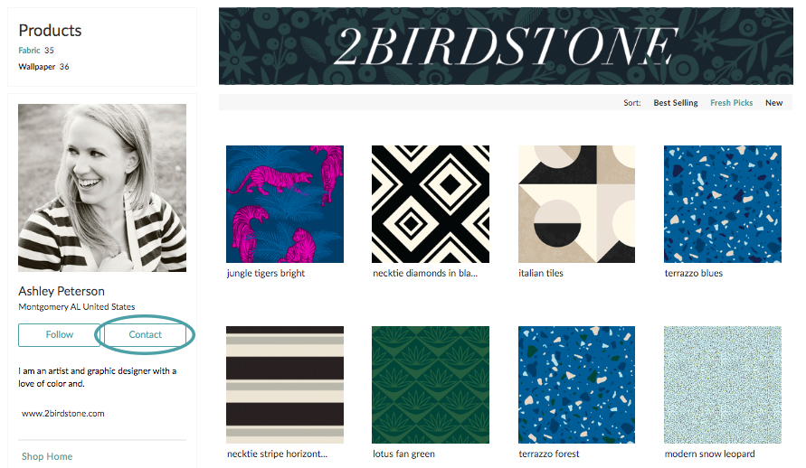 Contact a designer to make changes to a design in the Marketplace | Spoonflower Blog
