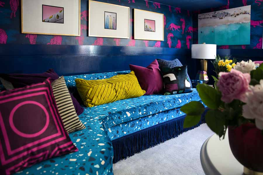 Jewel's One Room Challenge makeover was a maximalist masterpiece. | Spoonflower Blog