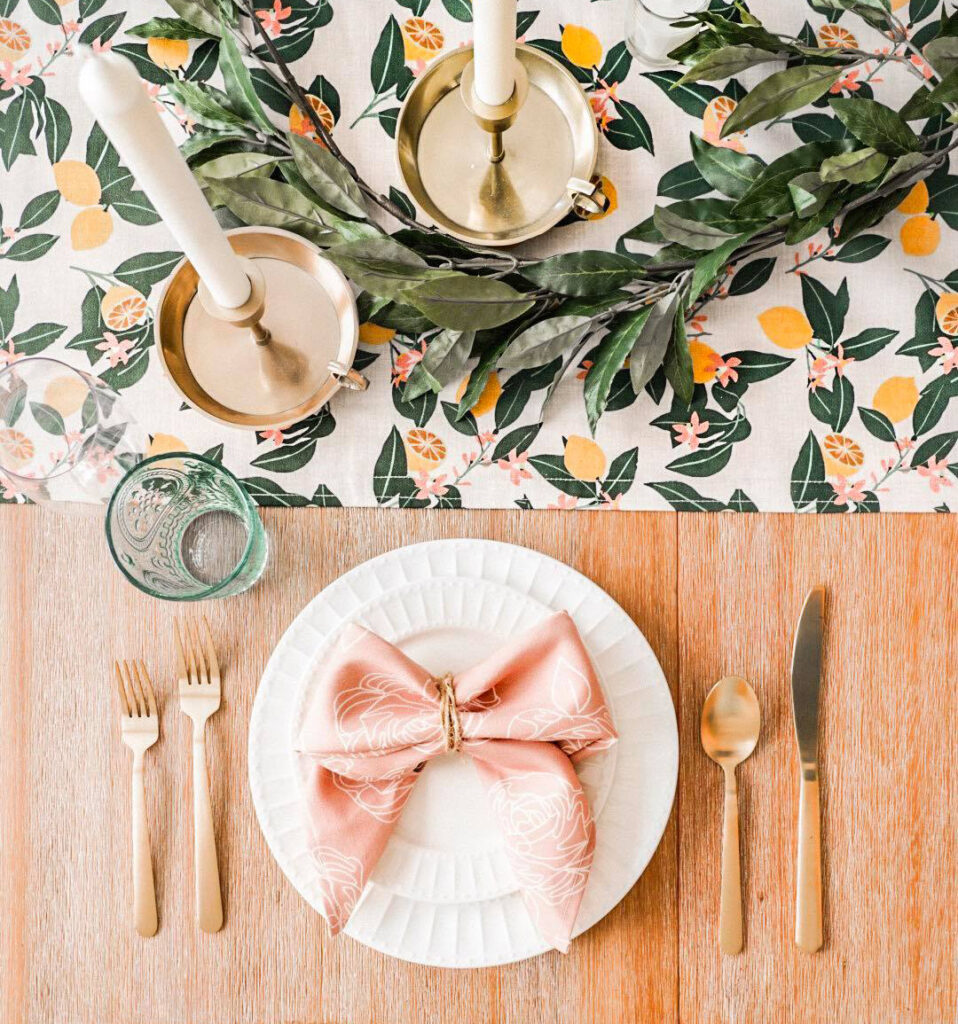 6 Ways to Style Your Table this Season - As Told By Michelle Tablescape | Spoonflower Blog