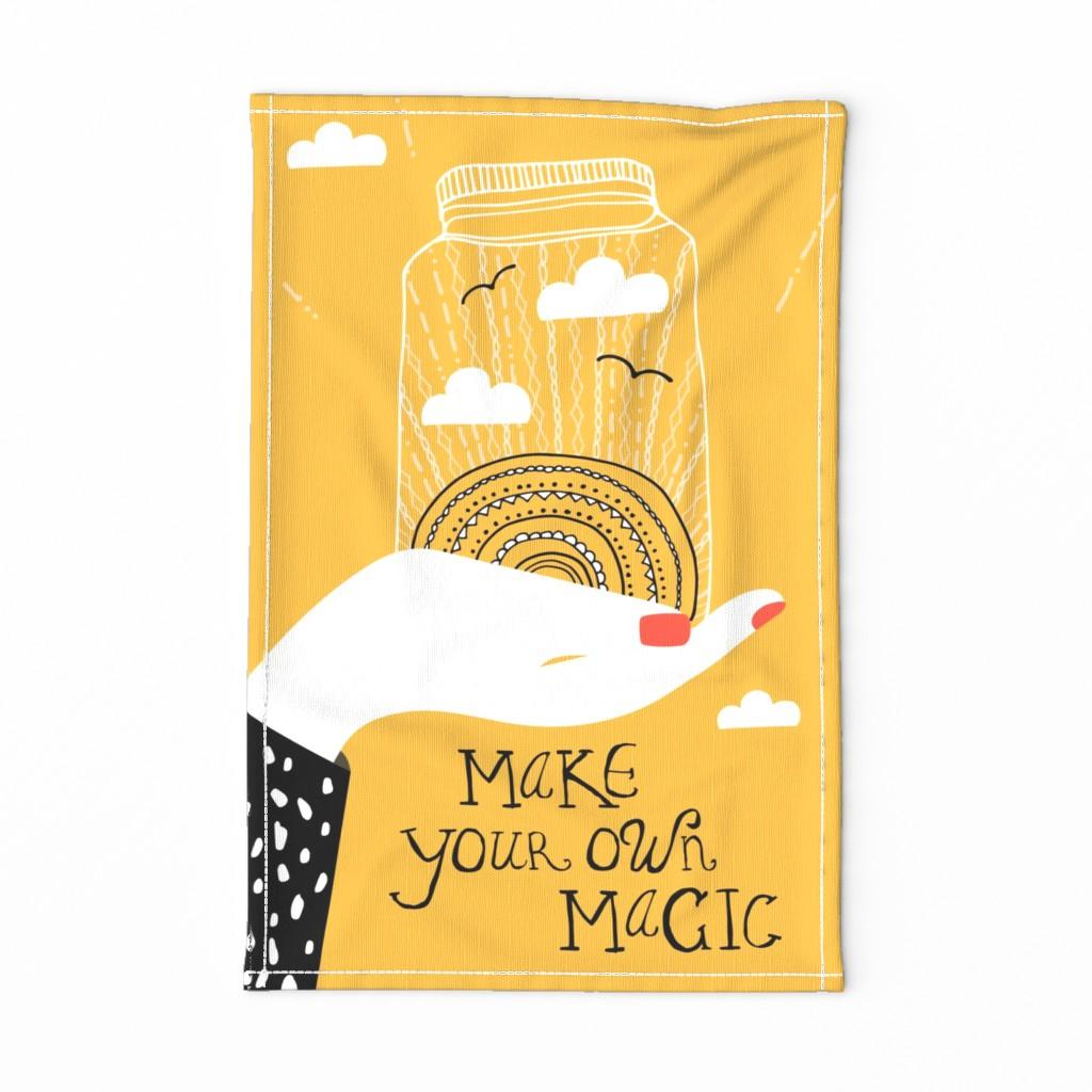 Leo tea towel design | Spoonflower Blog