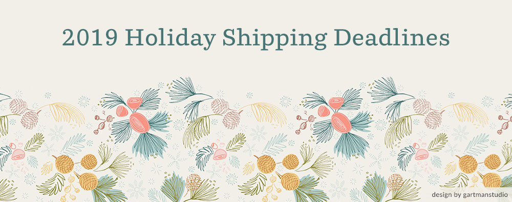 2019 Holiday Shipping Deadlines | Spoonflower Blog