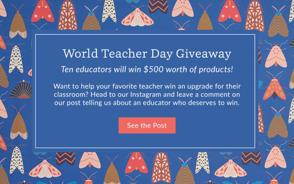 Want to help your favorite teacher win an upgrade for their classroom? Head to our Instagram and leave a comment now through on our post telling us about an educator who deserves to win.   Spoonflower Blog