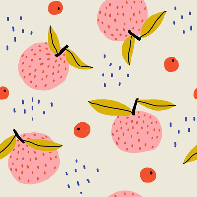 Pink Oranges wallpaper design