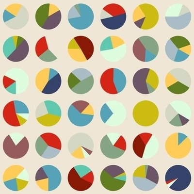 Colorful geometric circle wallpaper design