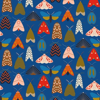 Colorful moths wallpaper design