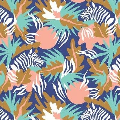 Colorful zebra wallpaper design