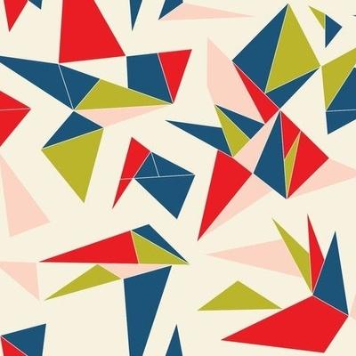 Origami shapes wallpaper design