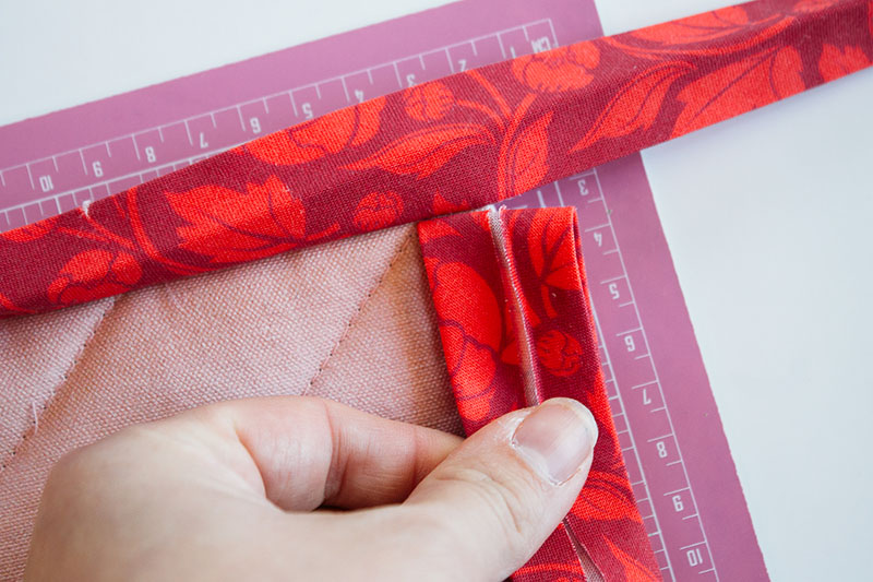 Attach the bias tape binding | Spoonflower Blog