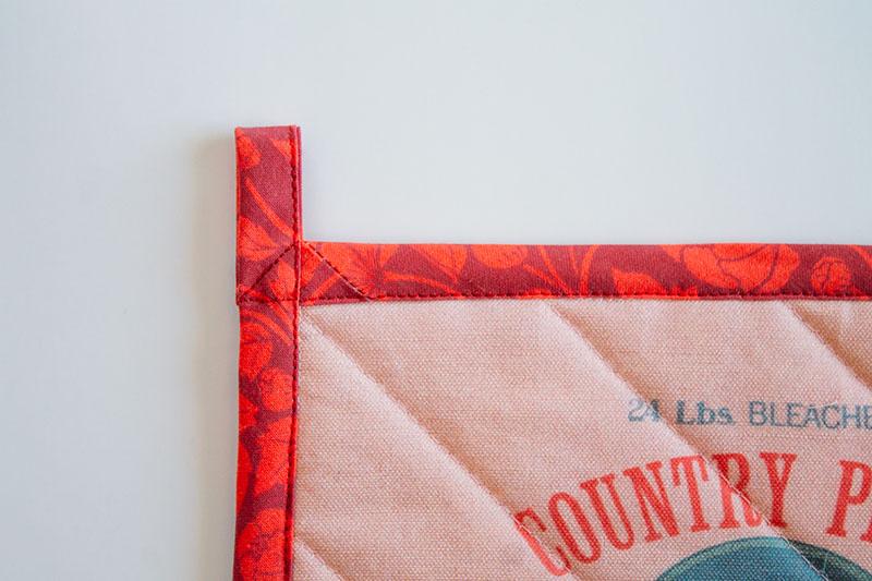 Create the pot holder hanging loop | Spoonflower Blog