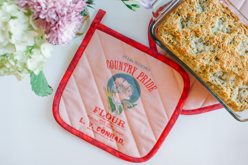 Turn Your Family Heirloom Fabric Into a Pot Holder | Pot holder | Spoonflower Blog