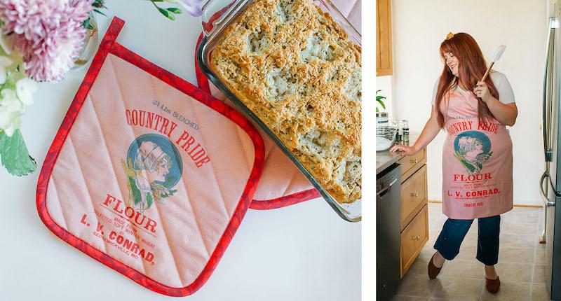Family heirloom pot holder and apron | Spoonflower Blog