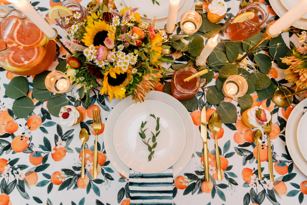 6 Ways to Style Your Table this Season - The Kwendy Home Tablescape | Spoonflower Blog