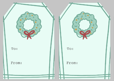 Add background elements to your gift tag | Spoonflower Blog