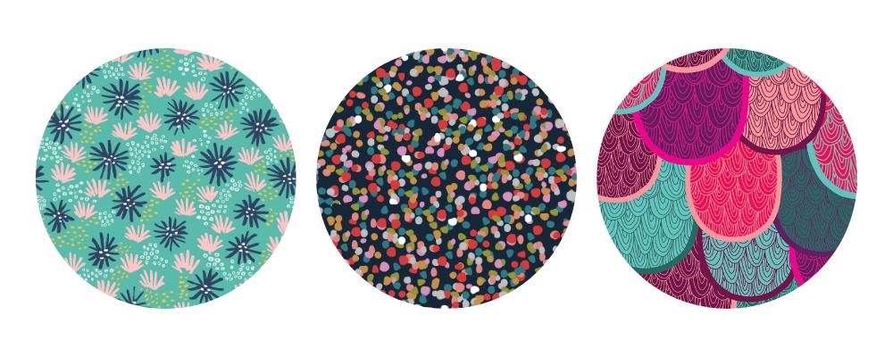 Featured scrunchie designs | Spoonflower Blog