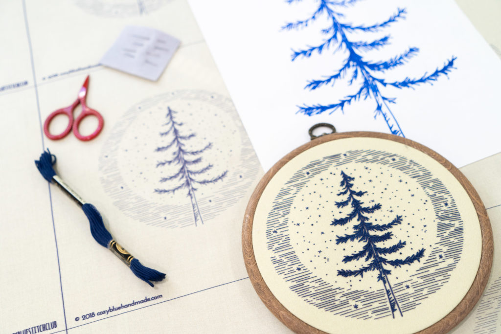 Liz's embroidery kit designs start as sketches on paper and then are turned into digital designs before they're printed on Petal Signature Cotton. | Spoonflower Blog
