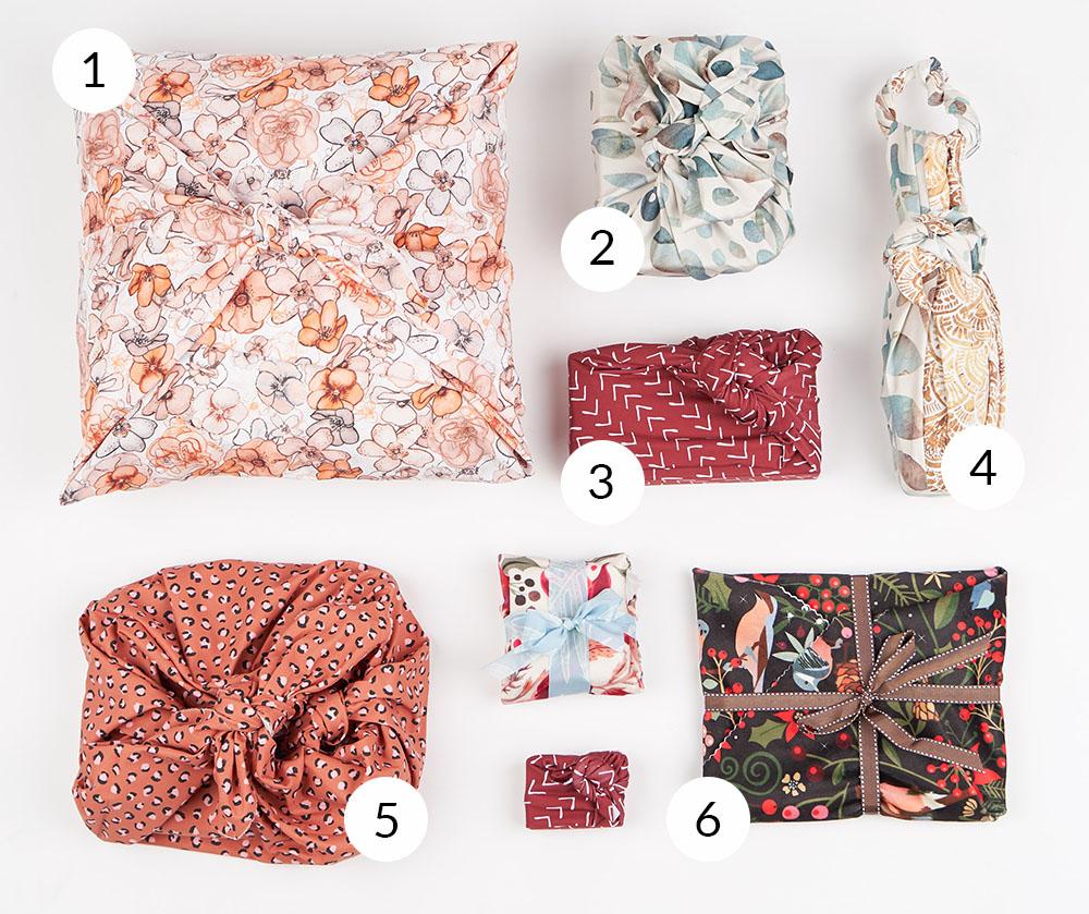 6 Ways to Wrap a Gift with Furoshiki | Spoonflower Blog
