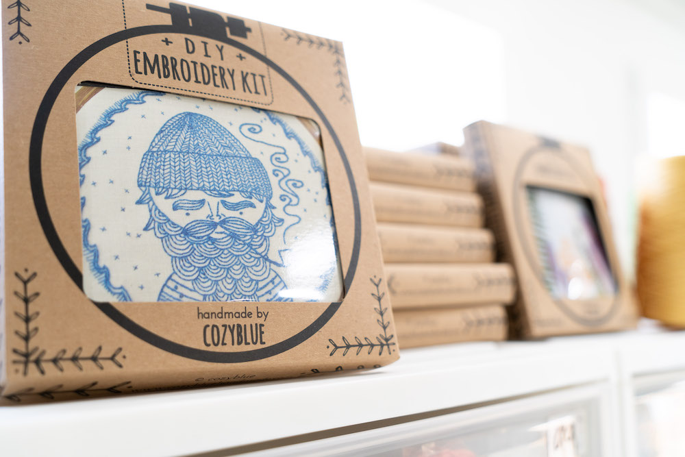 Sea Captain, one of Liz's first embroidery kits printed through Spoonflower. | Spoonflower Blog