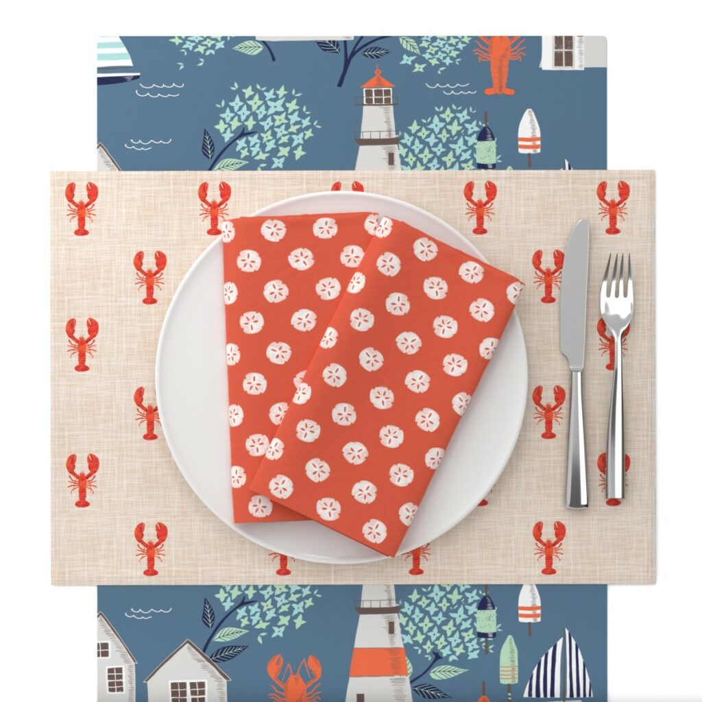 Seafood Soiree Table Setting | Spoonflower Blog